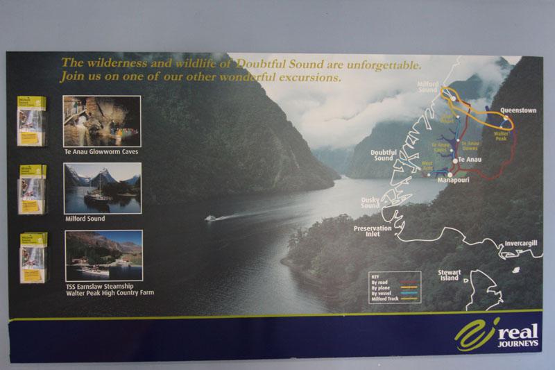 Infotafel Doubtful Sound