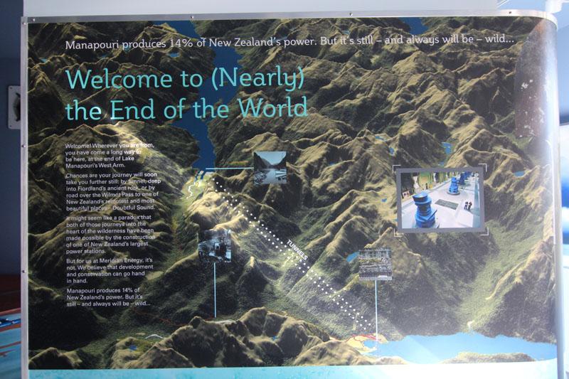 Infotafel Touren Doubtful Sound