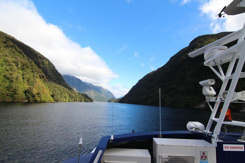 Schiffsrückseite Doubtful Sound