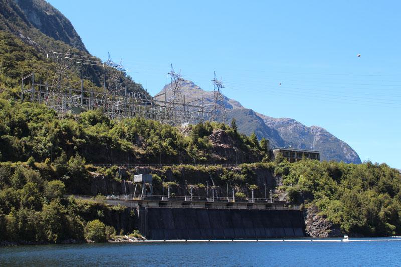 Manapouri Kraftwerks von oben