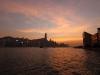 Hong Kong Harbour bei Sonnenuntergang