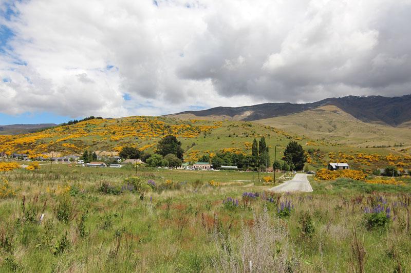 Landschaft Cardrona beim Reiten