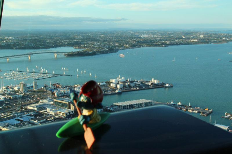 Überblick vom Skytower in Auckland