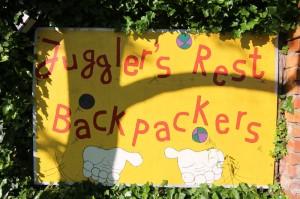 Willkommensschild @ jugglers rest