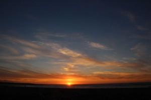 Sonnenuntergang am Sonnenuntergangspunkt