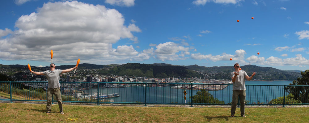 Jonglieren in Wellington