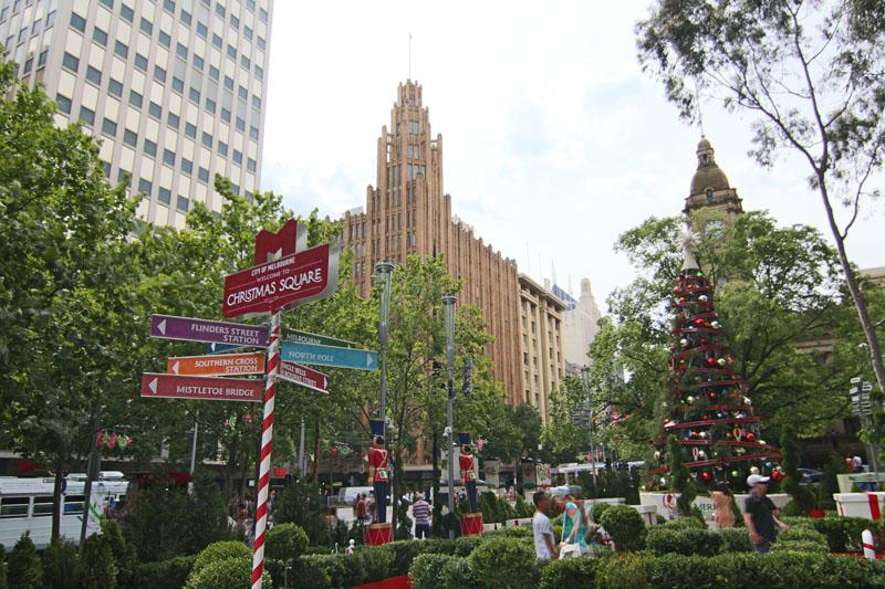 Weihnachtsplatz Melbourne