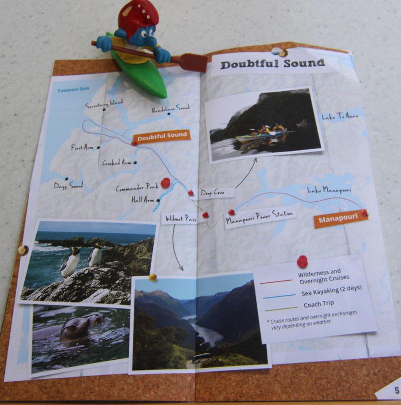 Route zum Doubtful Sound