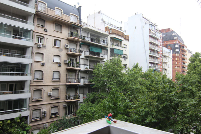 Blick von unserem Balkon