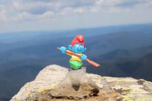 Kajaker auf dem Gipfel vom Mount Buller