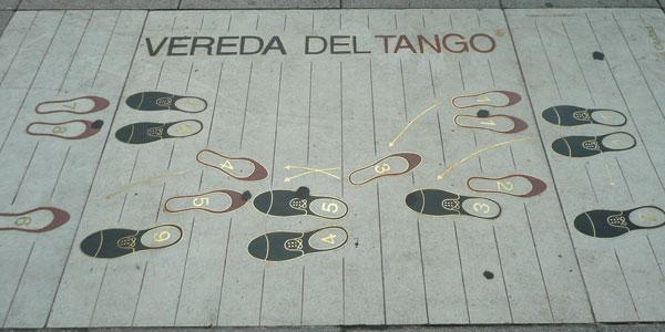Schema vom Tango Grundschritt