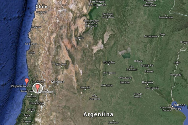 Chile Landkarte