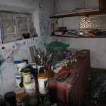 ...in seinem Atelier
