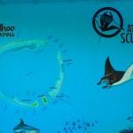 Wandbild des Rasdhoo Atolls